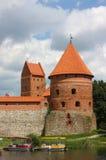 城堡海岛立陶宛trakai 库存图片