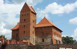 城堡海岛立陶宛trakai 免版税库存照片