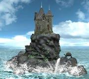 城堡海岛 免版税库存图片