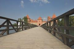 城堡海岛trakai 免版税图库摄影