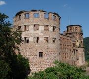 城堡海得尔堡废墟 图库摄影