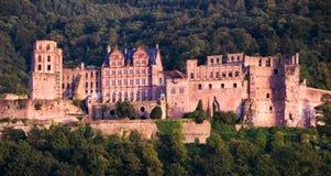 城堡海得尔堡红色 免版税图库摄影