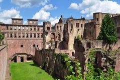 城堡海得尔堡著名废墟  免版税库存照片
