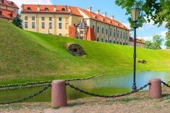 城堡涅斯维日的明信片视图 库存图片