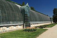城堡温室在Lednice 免版税库存照片