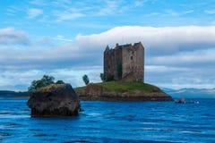 城堡潜随猎物者苏格兰英国欧洲 库存图片
