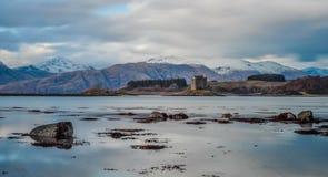 城堡潜随猎物者苏格兰 库存照片