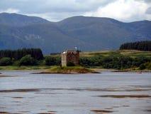 城堡潜随猎物者苏格兰 免版税库存图片