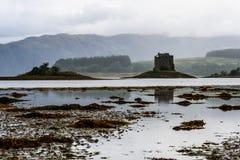 城堡潜随猎物者,苏格兰,英国 库存图片