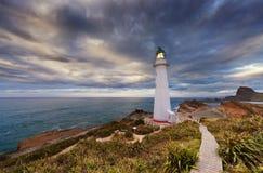 城堡点灯塔,新西兰 免版税库存图片
