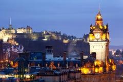 城堡爱丁堡地平线 库存照片