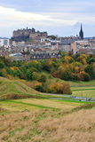 城堡爱丁堡城镇 免版税库存照片