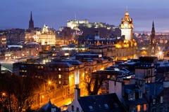 城堡爱丁堡苏格兰地平线 图库摄影