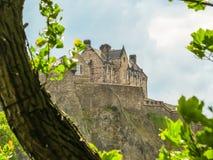 城堡爱丁堡苏格兰英国 免版税图库摄影