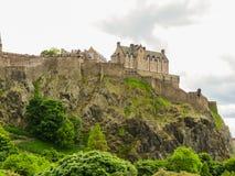 城堡爱丁堡苏格兰英国 免版税库存图片