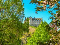 城堡爱丁堡苏格兰英国 免版税库存照片