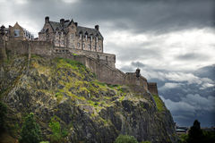 城堡爱丁堡苏格兰 免版税库存图片