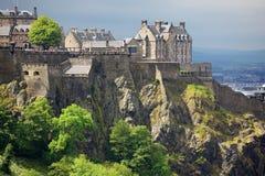 城堡爱丁堡苏格兰 免版税图库摄影