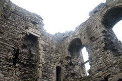 城堡爱尔兰人废墟 库存照片