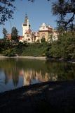 城堡生成的池塘pruhonice 库存照片