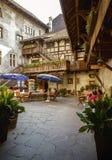 城堡病区在Bludenz,奥地利 库存照片