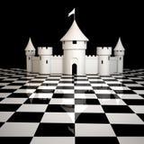 城堡白色 免版税库存图片