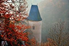 城堡的塔在捷克 库存图片