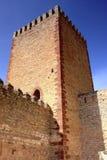 城堡在Molina de阿拉贡,西班牙 免版税库存图片