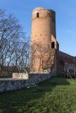城堡的废墟在切尔斯克,波兰 免版税库存照片