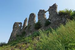 城堡的废墟在胡斯特 库存照片