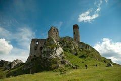 城堡的废墟 免版税库存图片