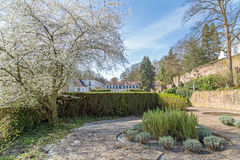 城堡的庭院在萨尔布吕肯 免版税库存照片