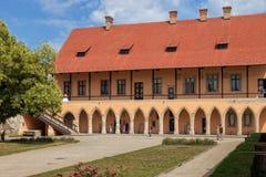 城堡的庭院 库存图片