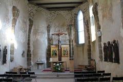 城堡的斯皮,斯洛伐克教堂 免版税库存图片