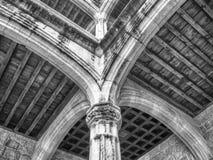 城堡的曲拱 免版税库存照片