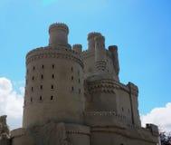城堡的沙子雕塑 库存照片