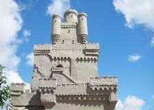 城堡的沙子雕塑 免版税库存图片