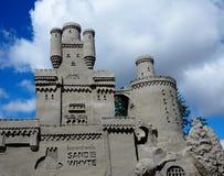 城堡的沙子雕塑 免版税库存照片