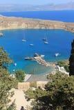 从城堡的海湾视图 免版税库存照片