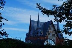 城堡的照片在春天的 库存图片