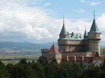 城堡的看法在Bojnice 库存照片
