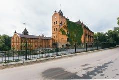 城堡的看法在Radomyshl,乌克兰 库存图片