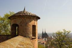 从城堡的美丽的景色 库存照片
