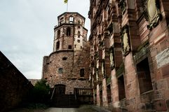 城堡的葡萄酒视图,发霉 免版税库存图片