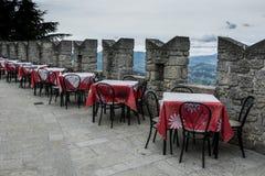 城堡的餐馆 免版税图库摄影