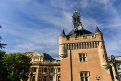 城堡的主楼和Capitole,图卢兹,法国 库存图片