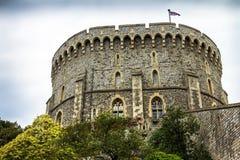 城堡的主楼-伟大的塔或最内在保持中世纪温莎城堡 免版税图库摄影
