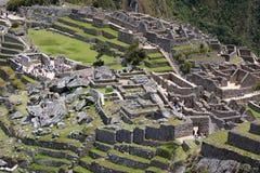 城堡的细节 Machu Picchu 秘鲁 免版税库存照片
