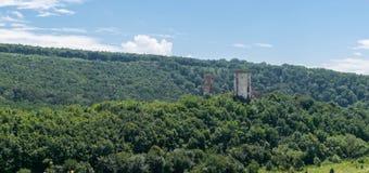 城堡的Chervonohorod CastleRuins的废墟在乌克兰 免版税库存照片