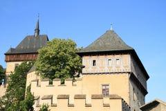 城堡的Karlstejn宫殿 库存图片